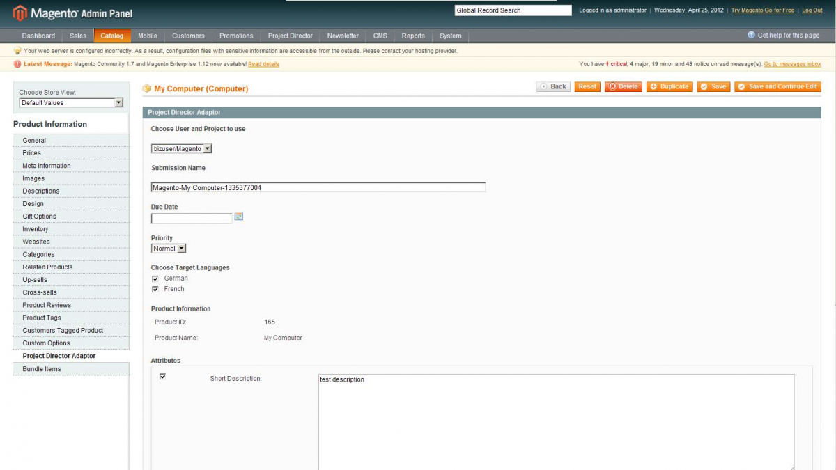 GlobalLink Magento Commerce Exension